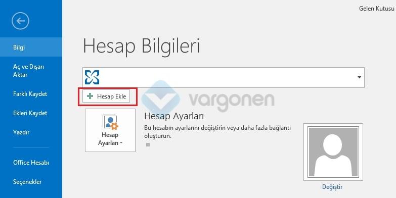 Outlook POP3 e-posta kurulumu Hesap Bilgileri Ayarları