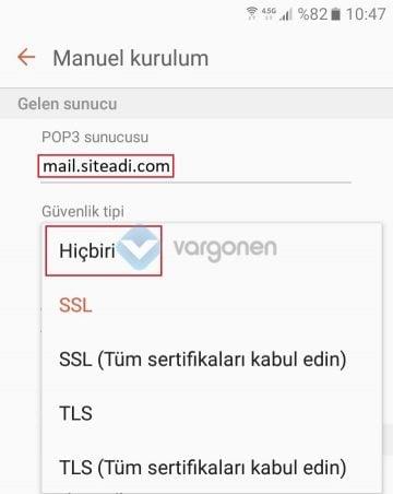 Android POP3 Mail Kurulumu Resimli Anlatım