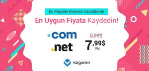 Ucuz Domain Kampanyası | COM ve NET 7,99$