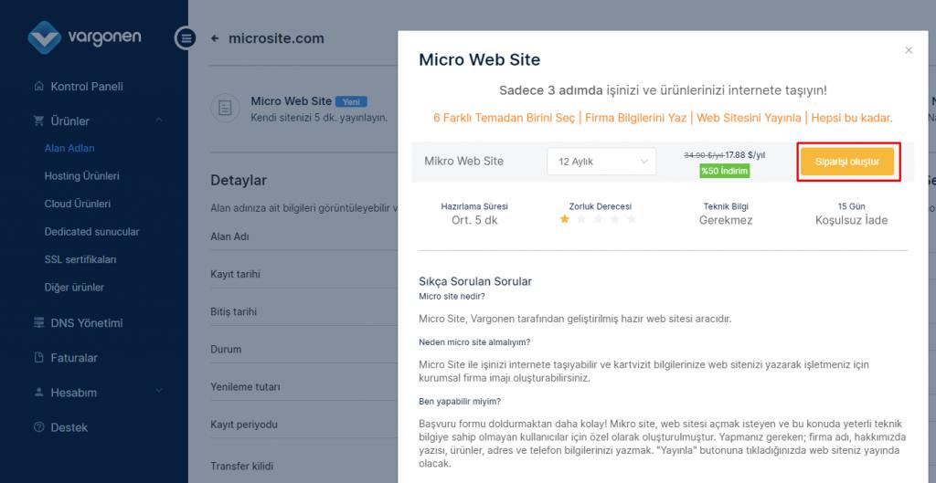 micro web site nedir