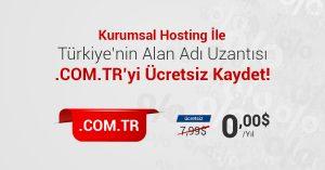 Read more about the article Kurumsal Hosting Alımlarında Ücretsiz .Com.Tr Alan Adı Kayıt Fırsatı!