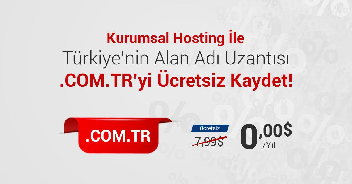 You are currently viewing Kurumsal Hosting Alımlarında Ücretsiz .Com.Tr Alan Adı Kayıt Fırsatı!
